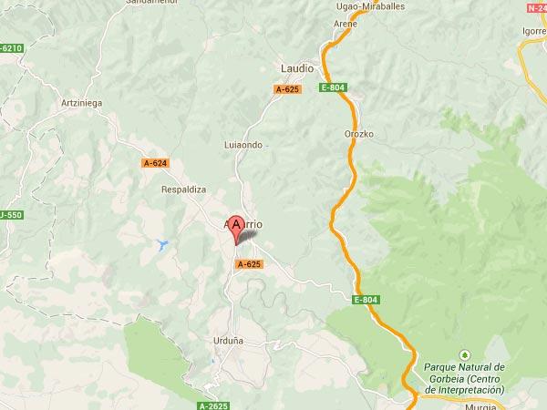mapa de El Txakoli