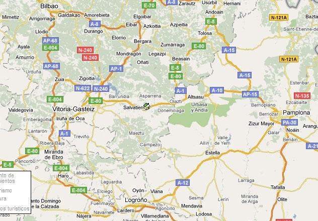 mapa de Zadorra Etxea
