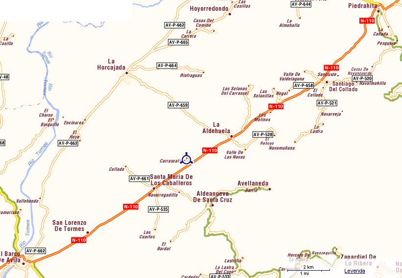 mapa de La Fragua