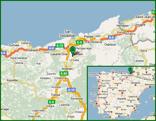 mapa de Kostegi