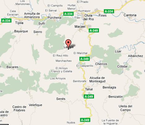 mapa de El Picachico, Alojamientos Rurales