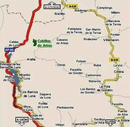 mapa de Albergue Valle De Arbas