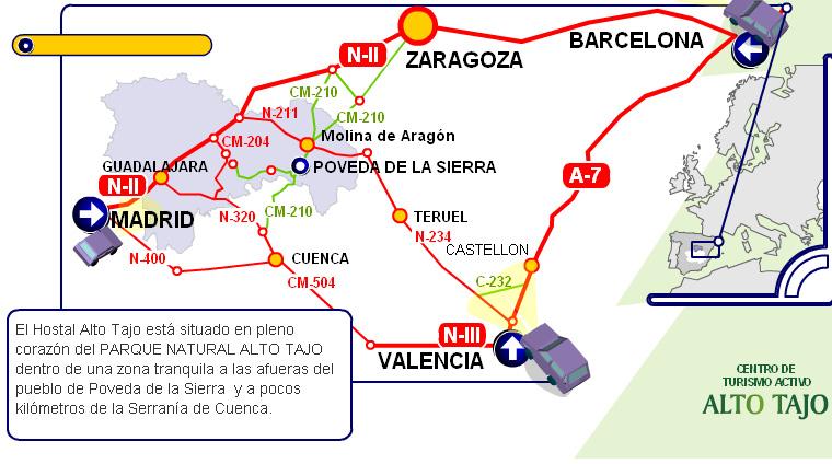 mapa de Hospederia Alto Tajo