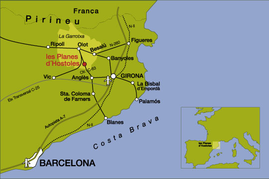 mapa de Hotel Can Garay