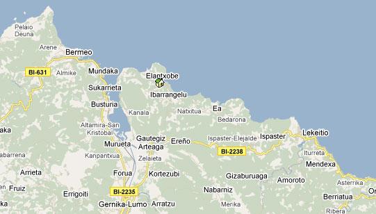 Mapa De Vizcaya Costa.Elantxobe Mapa Mapa