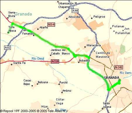 mapa de Alojamiento Rural Cortijo Torre Hueca