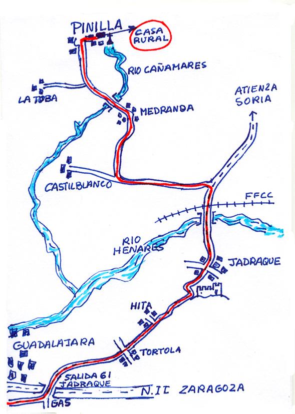 mapa de El Molinero De Pinilla