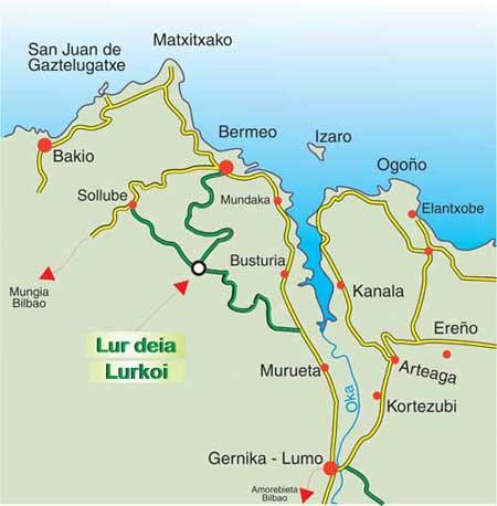 mapa de Lurdeia