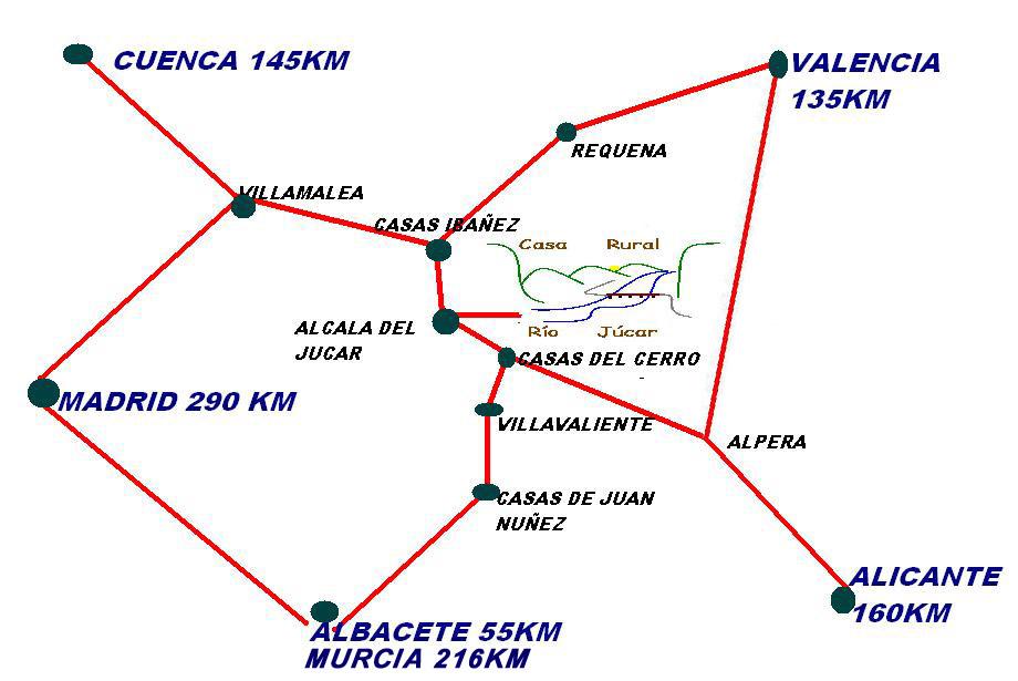mapa de Rio Jucar