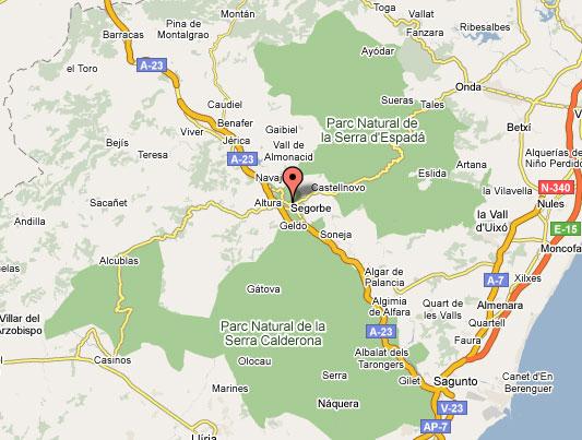 mapa de La Belluga - Museo Del Aceite