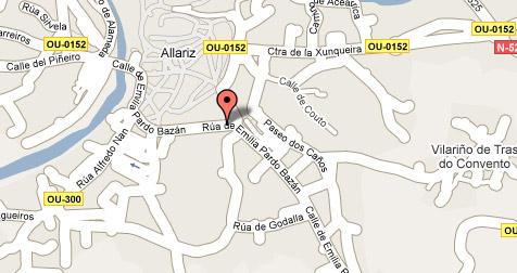 mapa de Hospedaxe Rosa Castelá