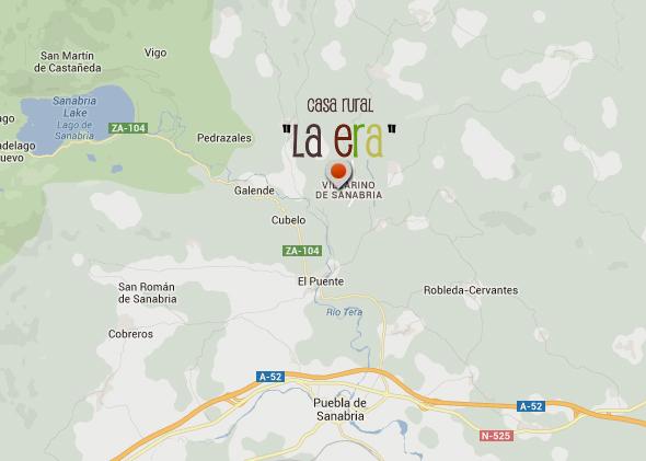 mapa de La Era Villarino De Sanabria