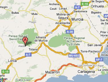 mapa de Casas Rurales Aledo Rural