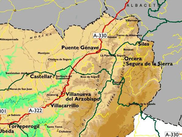 mapa de Atalaya Del Segura. Casa Grande