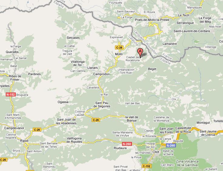 mapa de Casa Etxalde