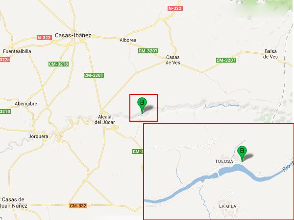 mapa de Casa Rural Con Encanto Rio Tranquilo
