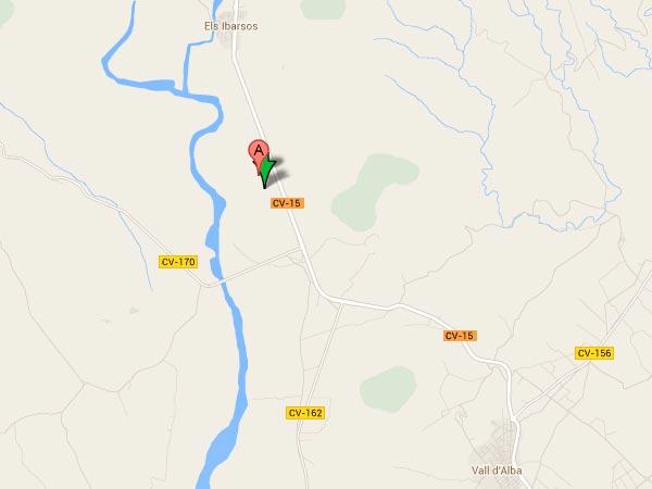 mapa de Casa Rural El Catala