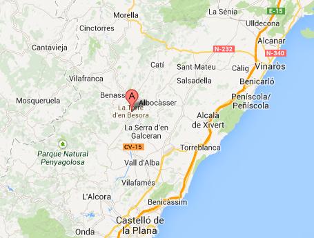 mapa de Casa Rural Molí Colomer