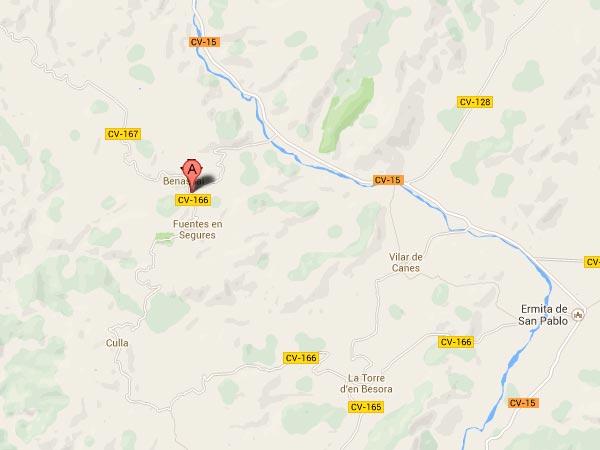 mapa de Casa Rural La Font