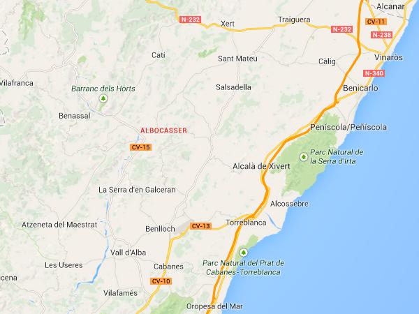 mapa de Casa Rural El Viu