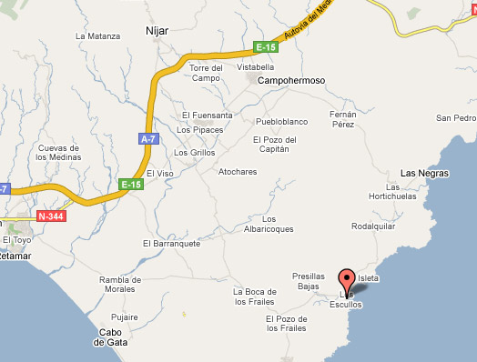 mapa de Complejo Turístico Los Escullos