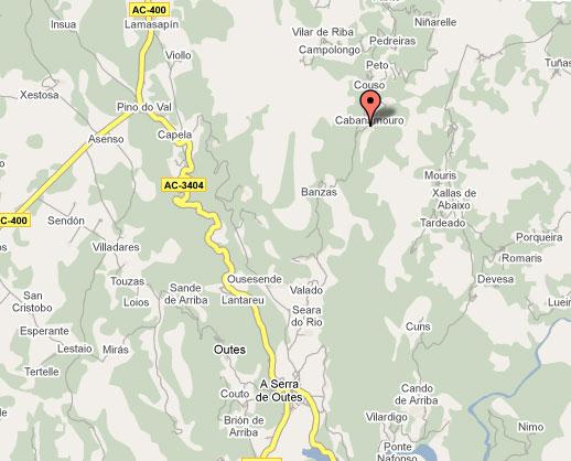 mapa de A Cabana De Carmen