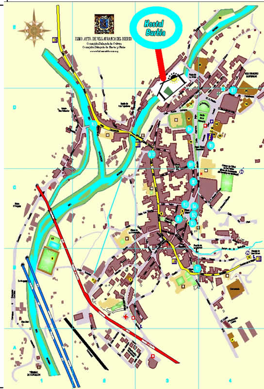 mapa de Hostal Burbia