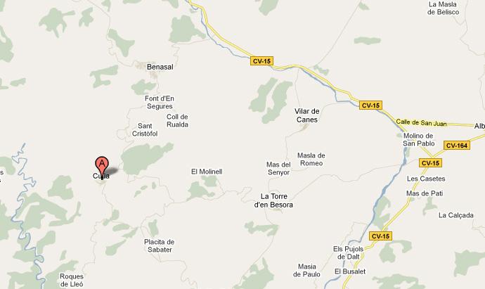 mapa de Mas de les Forques I
