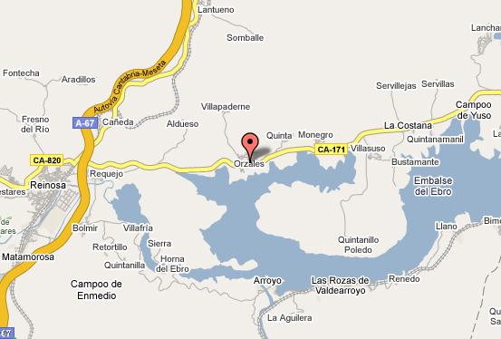 mapa de La Casa Del Lago De Campoo
