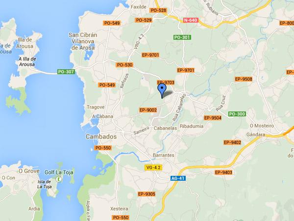 mapa de Casa Da Muiñeira