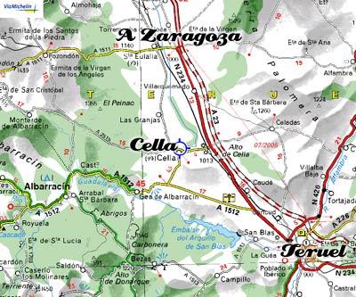 mapa de La Posada De Clotilde