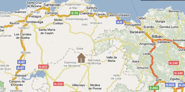 mapa de La Casa Del Montero