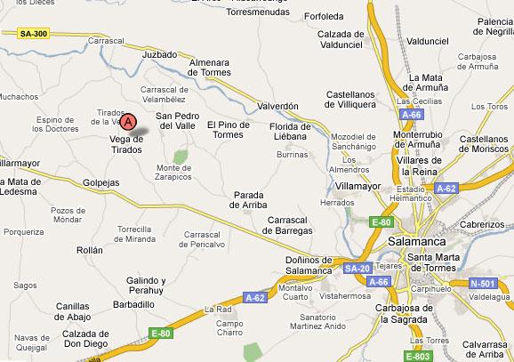 mapa de Los Manjolinos