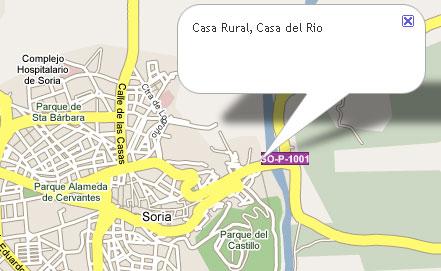 mapa de Casa Rio Soria