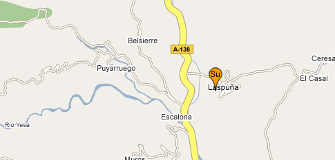 mapa de Puerta De Ordesa Apartamentos