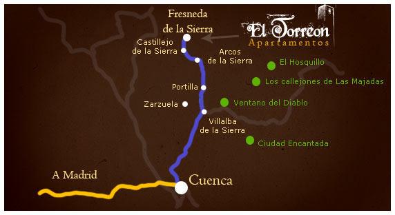 mapa de Apartamentos El Torreon