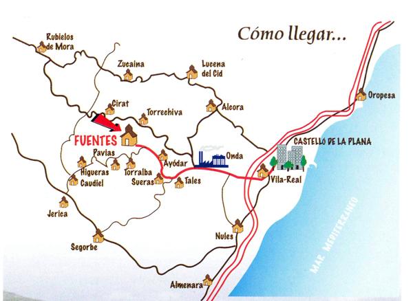 mapa de Hotel Restaurante Rural Las Viñas Viejas