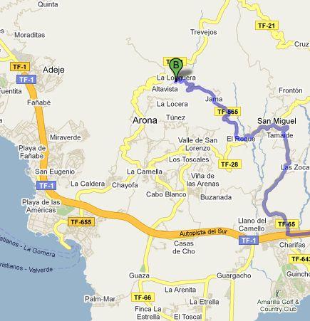 mapa de Casa Rural Isabel Tenerife