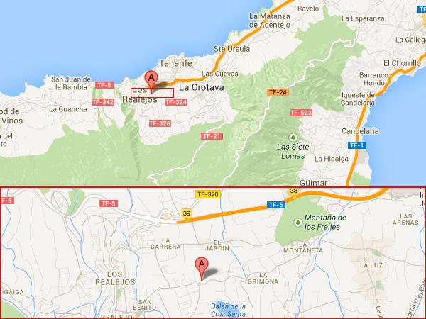 mapa de Casa Rural La Gañanía