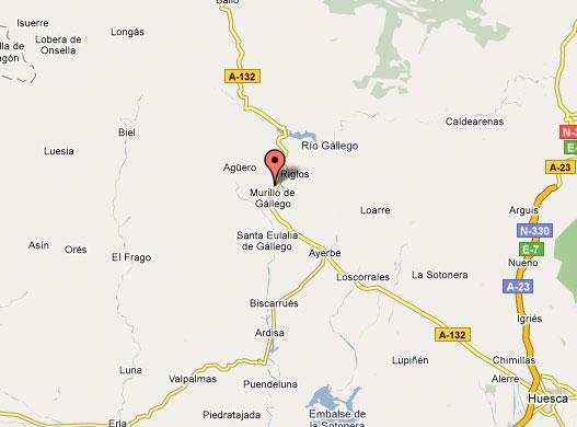 mapa de Hotel Real Posada De Liena