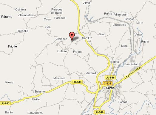 mapa de Rectoral De Goian
