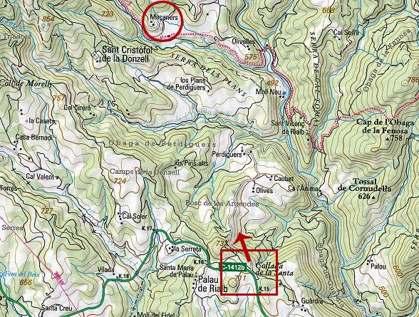 mapa de Masia Massanes