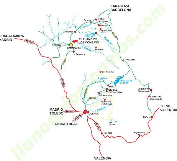 mapa de El Llano De Los Conejos