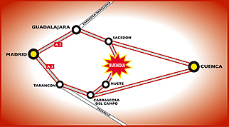 mapa de Hostal Rural Casa Obispo