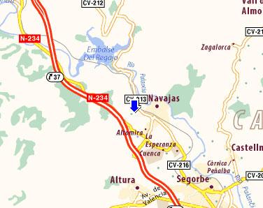 mapa de Cabañas Altomira