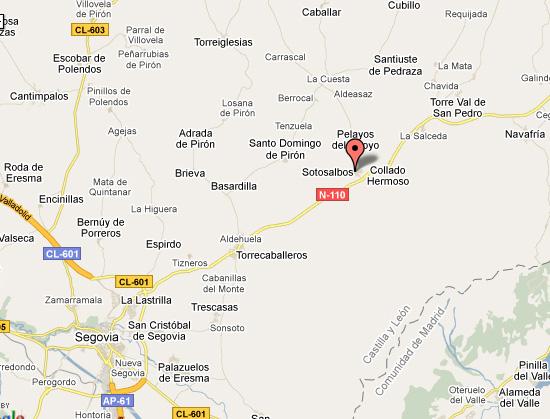 mapa de Casa Rural La Fragua