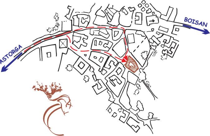 mapa de La Casa Del Filandon