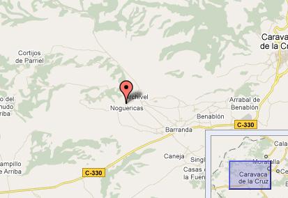 mapa de Casas Noguericas