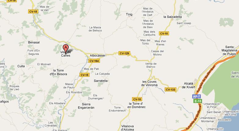 mapa de L´estiu Rural