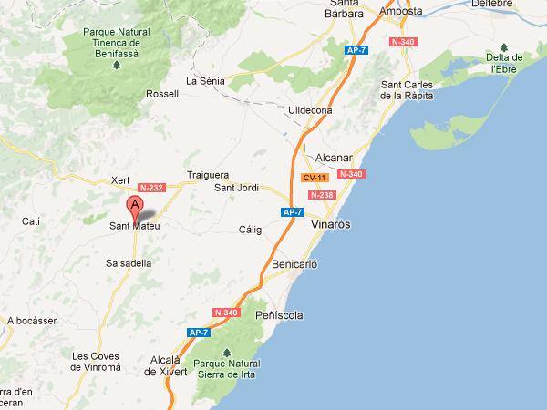 mapa de Casa Rural Calaceit